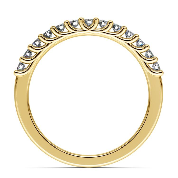 Trellis Diamond Wedding Ring in Yellow Gold   03