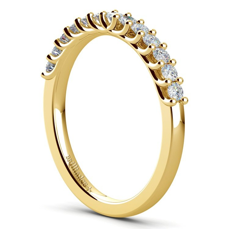 Trellis Diamond Wedding Ring in Yellow Gold   04