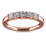 Trellis Five Diamond Wedding Ring in Rose Gold | Thumbnail 02
