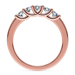 Trellis Five Diamond Wedding Ring in Rose Gold | Thumbnail 03