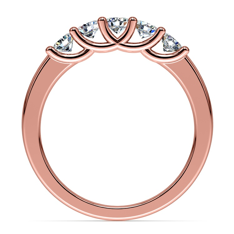 Trellis Five Diamond Wedding Ring in Rose Gold | 03