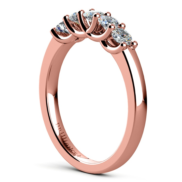 Trellis Five Diamond Wedding Ring in Rose Gold | 04