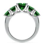 Trellis Five Emerald Gemstone Ring in Platinum | Thumbnail 03