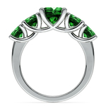 Trellis Five Emerald Gemstone Ring in White Gold | Thumbnail 03