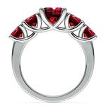 Trellis Five Ruby Gemstone Ring in White Gold | Thumbnail 03