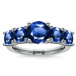 Trellis Five Sapphire Gemstone Ring in Platinum | Thumbnail 02
