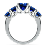 Trellis Five Sapphire Gemstone Ring in Platinum | Thumbnail 03