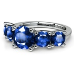 Trellis Five Sapphire Gemstone Ring in White Gold | Thumbnail 05