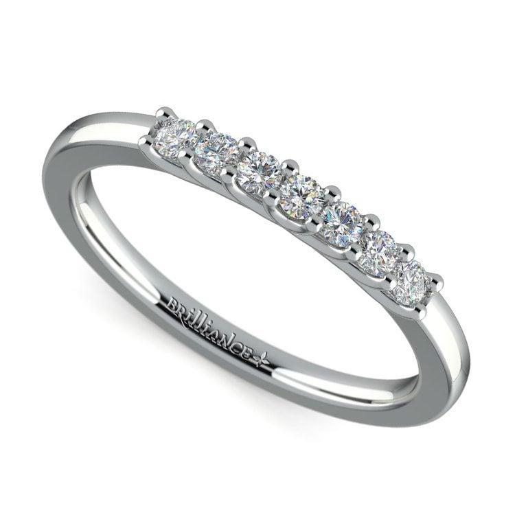 Trellis Seven Diamond Wedding Ring in Platinum | 01