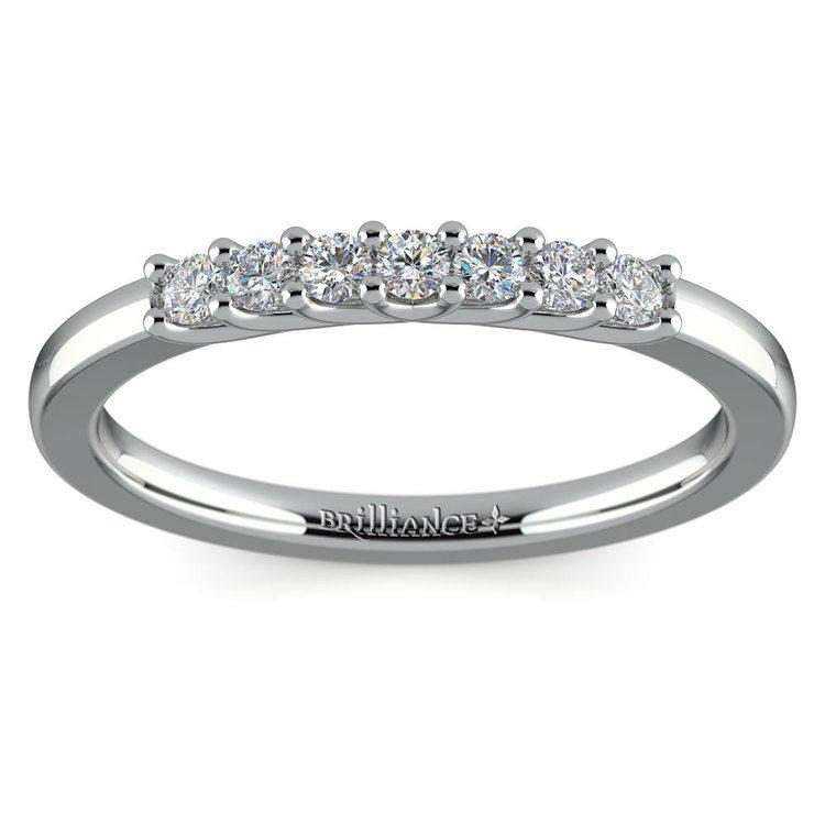 Trellis Seven Diamond Wedding Ring in Platinum | 02