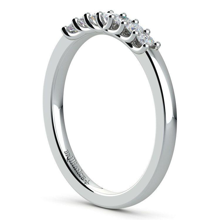 Trellis Seven Diamond Wedding Ring in Platinum | 04