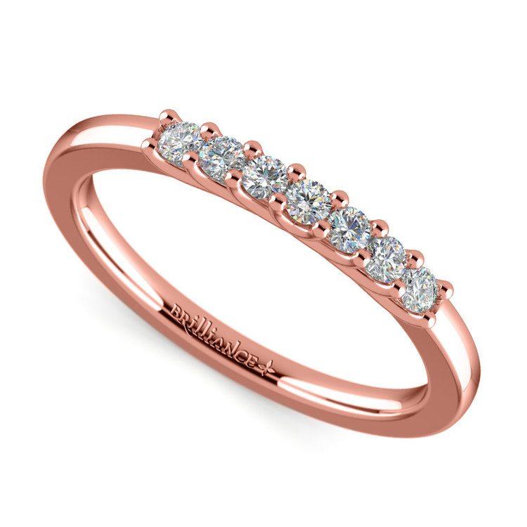 Trellis Seven Diamond Wedding Ring in Rose Gold | 01