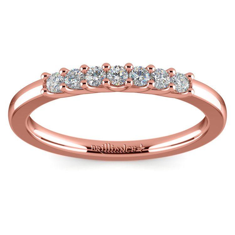 Trellis Seven Diamond Wedding Ring in Rose Gold | 02