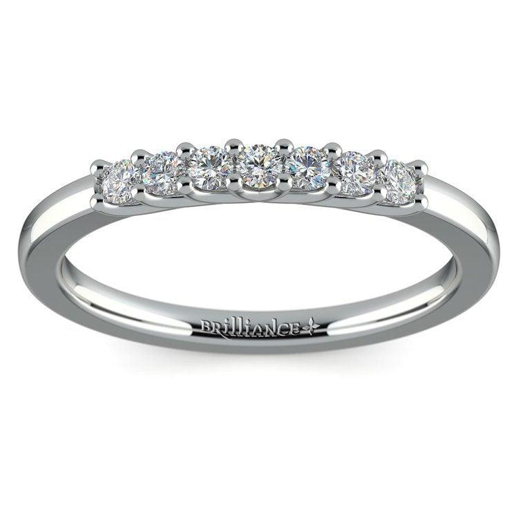 Trellis Seven Diamond Wedding Ring in White Gold | 02
