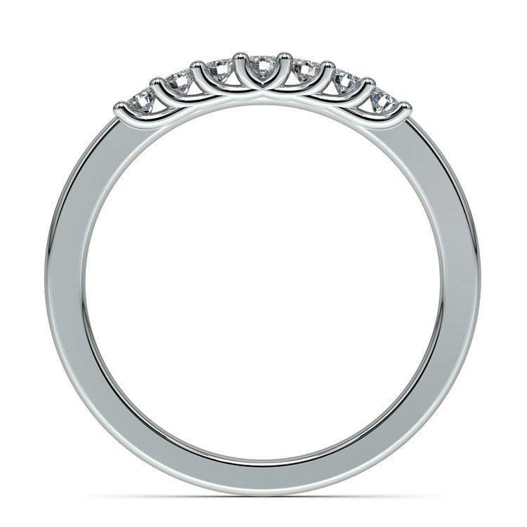 Trellis Seven Diamond Wedding Ring in White Gold | 03