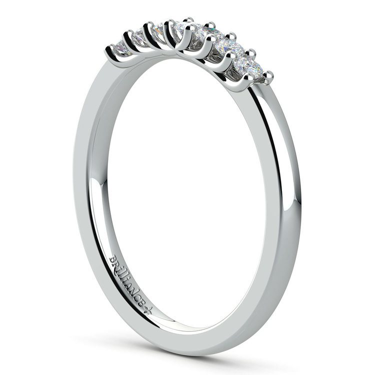 Trellis Seven Diamond Wedding Ring in White Gold | 04