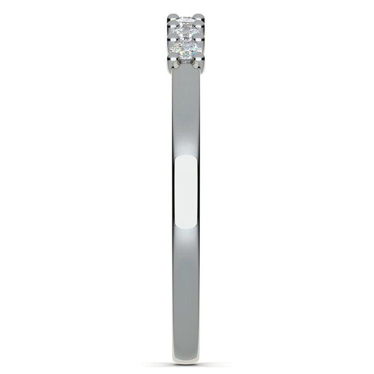 Trellis Seven Diamond Wedding Ring in White Gold | 05