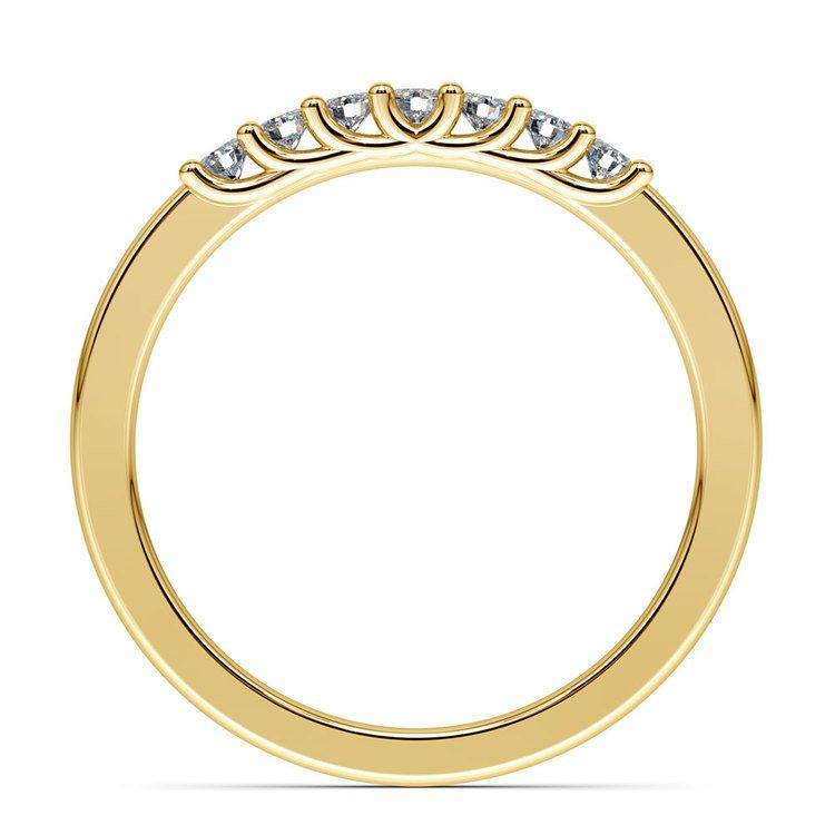 Trellis Seven Diamond Wedding Ring in Yellow Gold   03