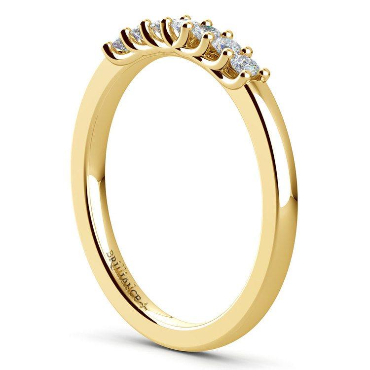 Trellis Seven Diamond Wedding Ring in Yellow Gold   04