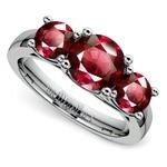 Trellis Three Ruby Gemstone Ring in Platinum | Thumbnail 01
