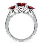 Trellis Three Ruby Gemstone Ring in Platinum | Thumbnail 03
