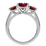 Trellis Three Ruby Gemstone Ring in White Gold (1 ctw) | Thumbnail 03