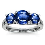Trellis Three Sapphire Gemstone Ring in Platinum | Thumbnail 02