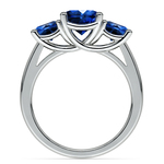 Trellis Three Sapphire Gemstone Ring in Platinum | Thumbnail 03