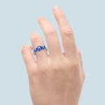 Trellis Three Sapphire Gemstone Ring in Platinum   Thumbnail 06