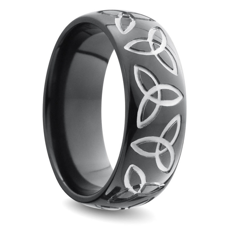 Trinity Knot Men's Wedding Ring in Zirconium | 02