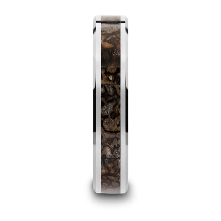 Tungsten Dinosaur Bone Inlay Wedding Ring (4mm) | 03