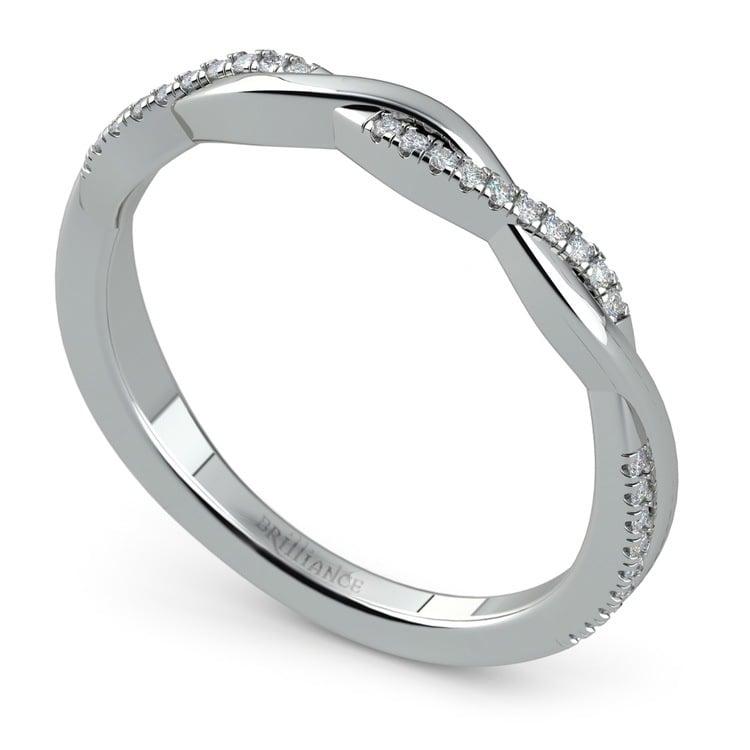 Twisted Diamond Wedding Band In Platinum | 01