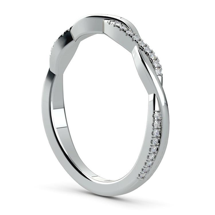 Twisted Diamond Wedding Band In Platinum | 04