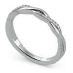 Twisted Diamond Wedding Band In White Gold | Thumbnail 01