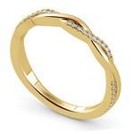 Twisted Diamond Wedding Band In Yellow Gold | Thumbnail 01