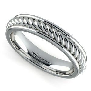 Twisted Rope Comfort Fit Wedding Ring in Platinum