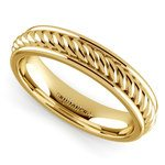 Twisted Rope Comfort Fit Wedding Ring in Yellow Gold | Thumbnail 01