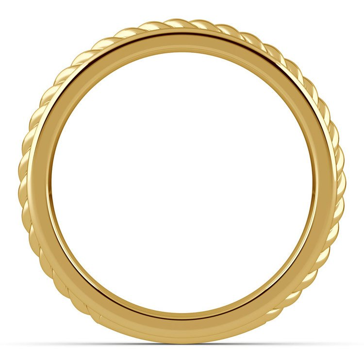 Twisted Rope Comfort Fit Wedding Ring in Yellow Gold | 03