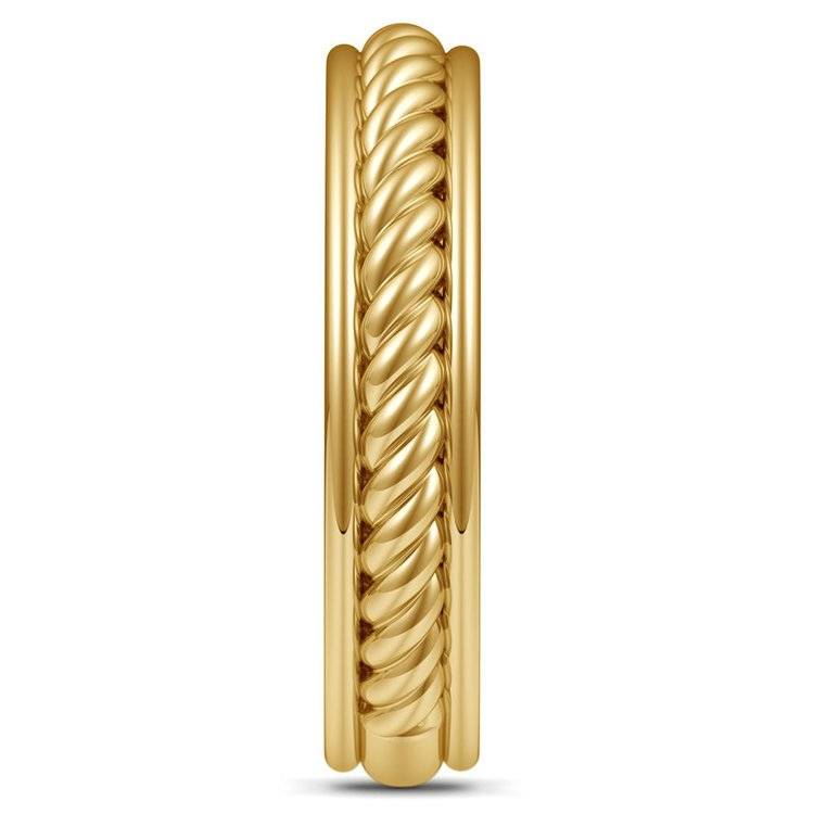 Twisted Rope Comfort Fit Wedding Ring in Yellow Gold | 05