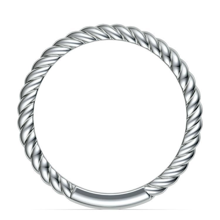Twisted Rope Wedding Ring in Palladium | 03