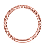 Twisted Rope Wedding Ring in Rose Gold | Thumbnail 03