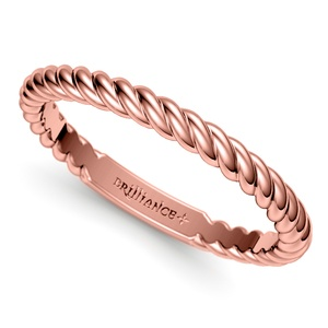 twisted rope wedding ring in rose gold - Woman Wedding Rings