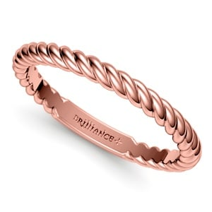 twisted rope wedding ring in rose gold - Gold Wedding Rings For Women