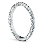 Twisted Rope Wedding Ring in White Gold | Thumbnail 04