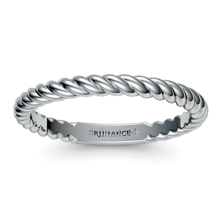 Twisted Rope Wedding Ring in White Gold | 02