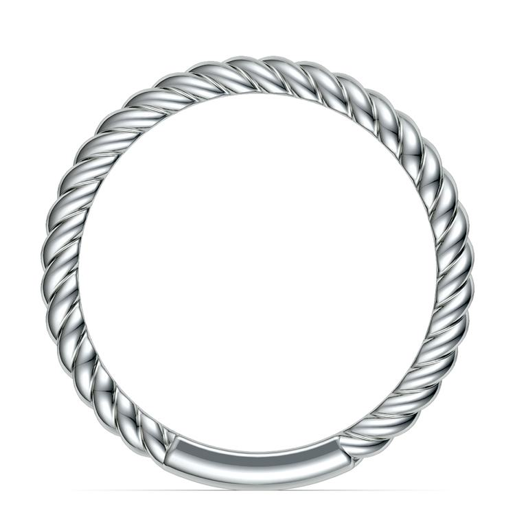 Twisted Rope Wedding Ring in White Gold | 03