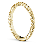 Twisted Rope Wedding Ring in Yellow Gold | Thumbnail 04