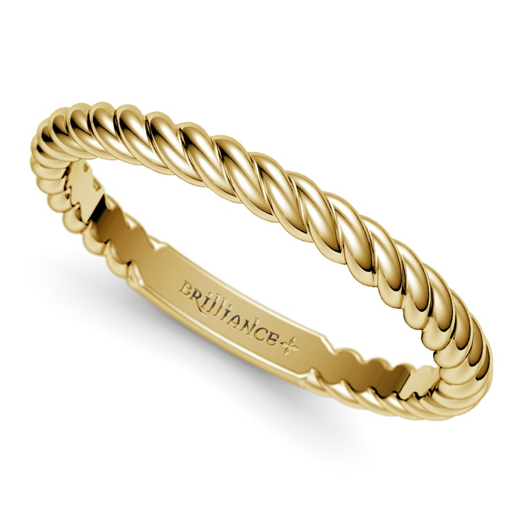 Twisted Rope Wedding Ring in Yellow Gold   01