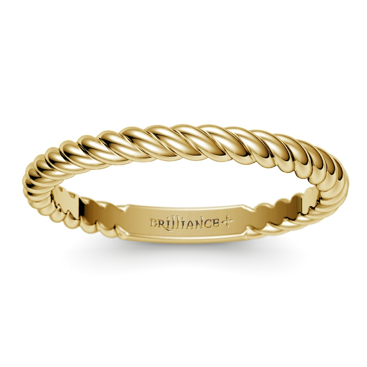 Twisted Rope Wedding Ring in Yellow Gold   02