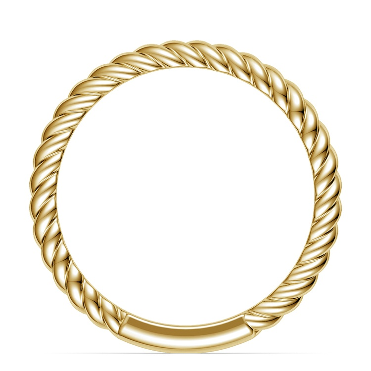 Twisted Rope Wedding Ring in Yellow Gold | 03